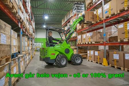 Avant går hele vejen: e5 er 100 % grøn!