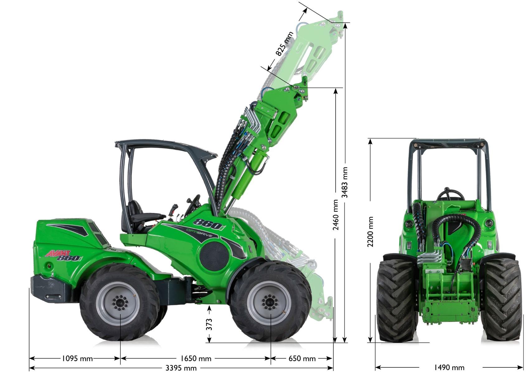 800 serien og dens størrelse, bredde og generelle dimensioner