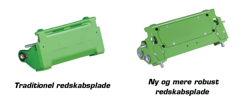 redskabspladen på en minilæsser fra 800 serien er større, mere robust og mere funktionel