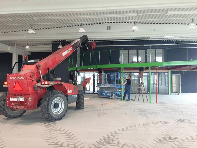 Ombygning af showroom