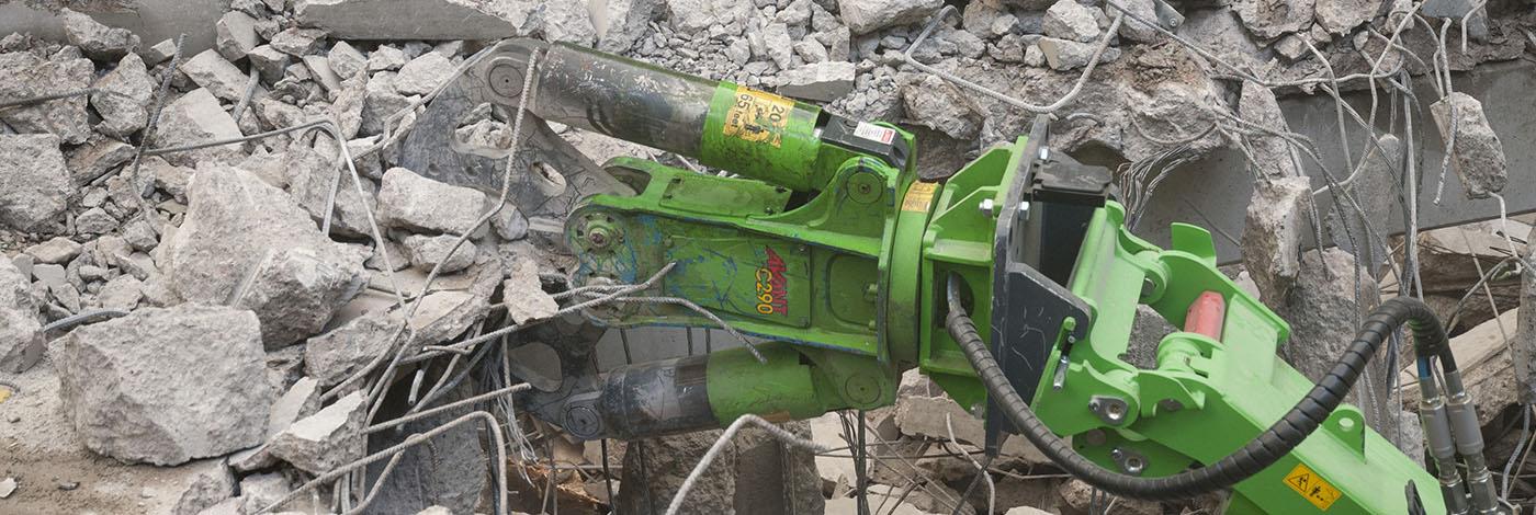 Med denne betonsaks er din Avant minilæsser en kørende nedbrydningsmaskine.