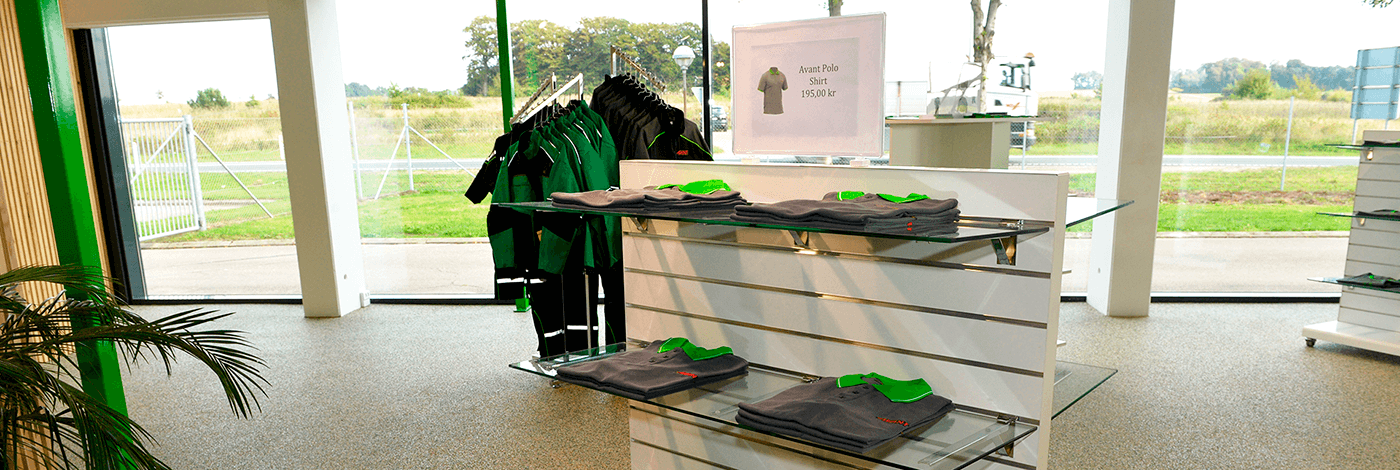 AVANT merchandise, billede taget i AVANT Danmarks showroom i Låsby