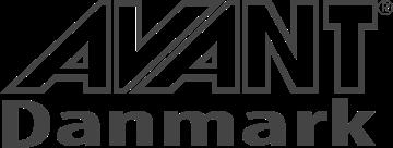 avant danmark logo grayscale