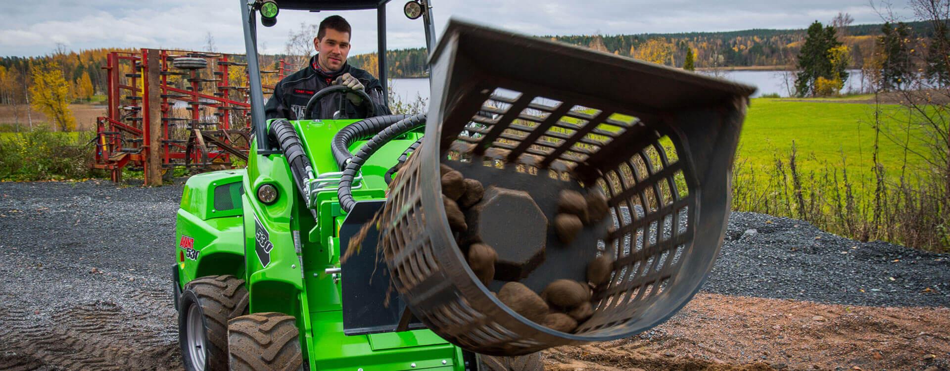 Miljøbillede af AVANT 500 med soteringstromle