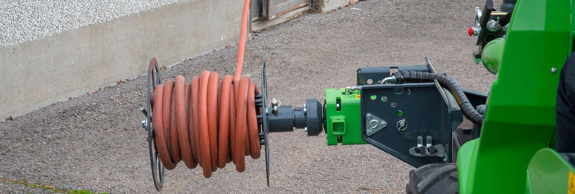 miljøbillede af AVANT med kabel- og slangeopruller
